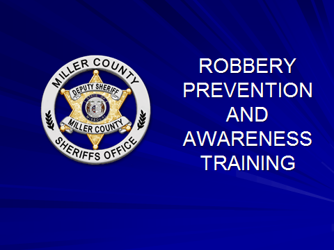 Robbery prevention and awareness training PowerPoint image